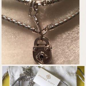 Kendra Scott heart and Lock choker necklace set